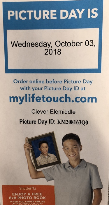 PK-8 School Pictures on 10/3/18
