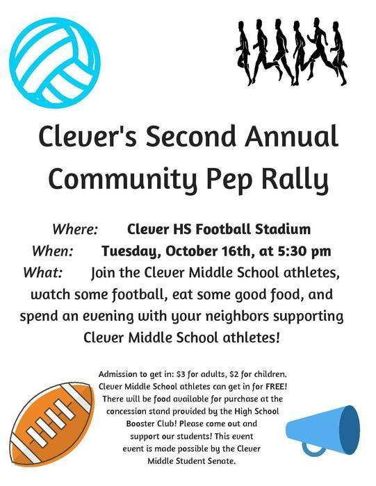 2nd Annual Community Pep Rally