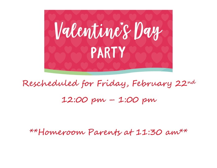 K -4 Valentine's Day Parties