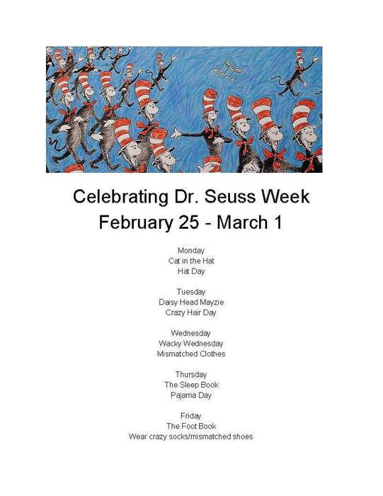 PreK - 4  Dr. Seuss Week