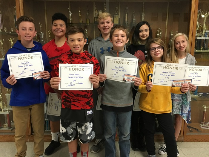 MS Student of the Month Winners
