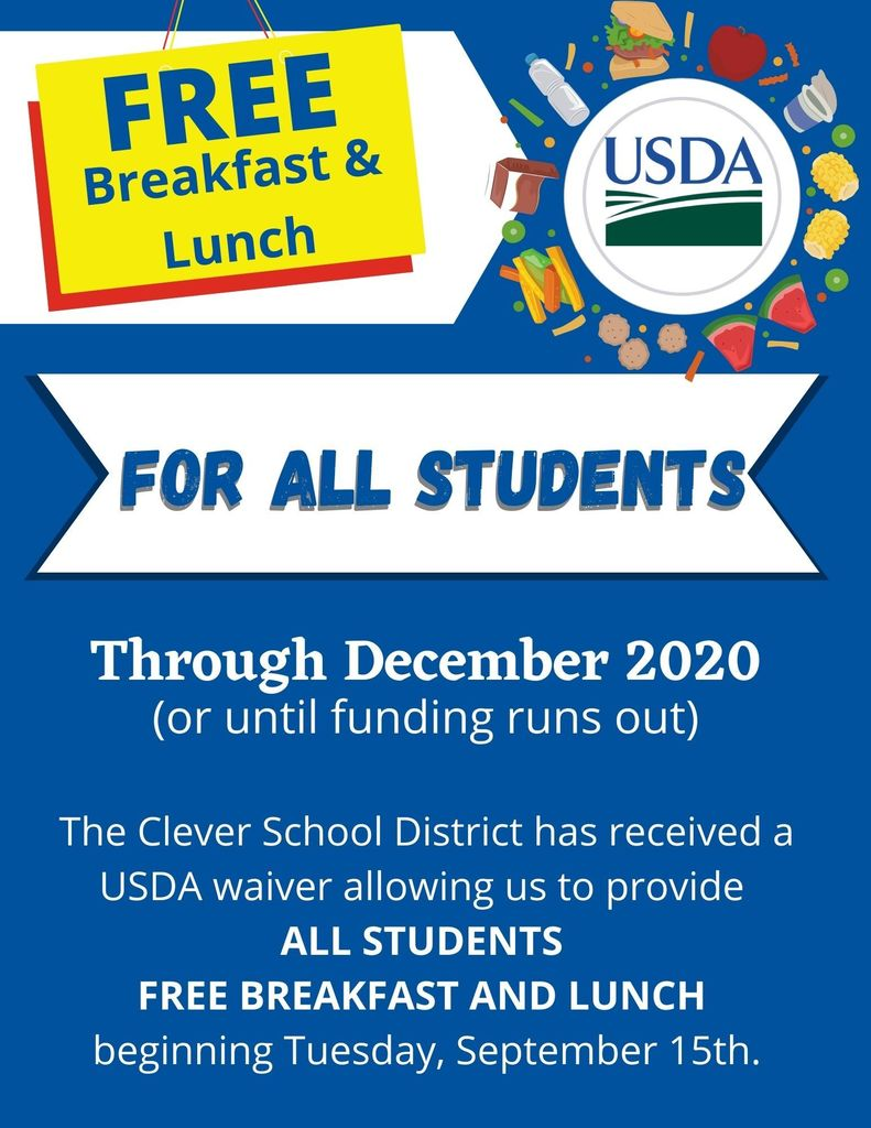 Free meals for ALL students.
