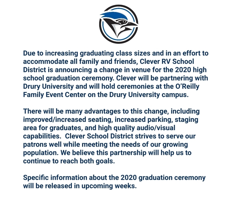 Graduation Venue Change